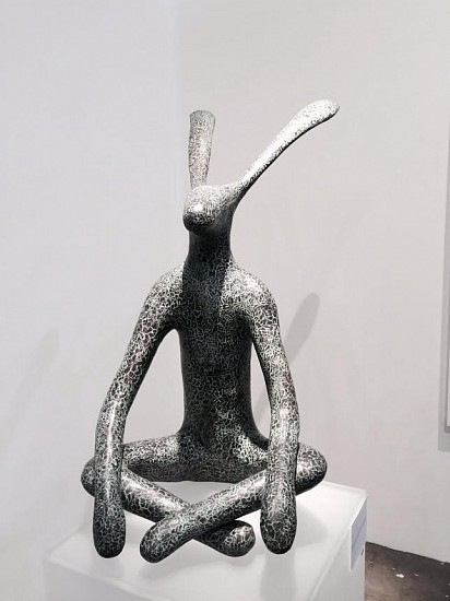 GUY PIERRE DU TOIT, HARE IN BUTTERFLY POSE BRONZE