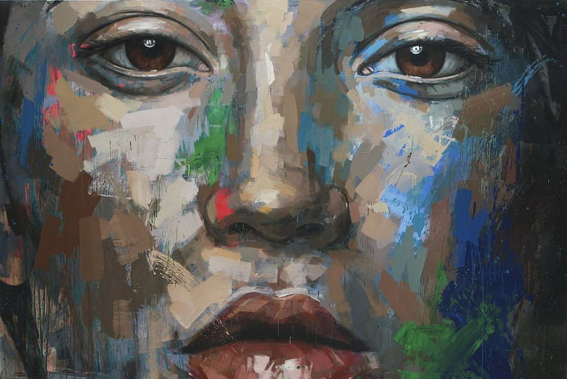 LIONEL SMIT, FRAGMENTED STARE OIL ON CANVAS