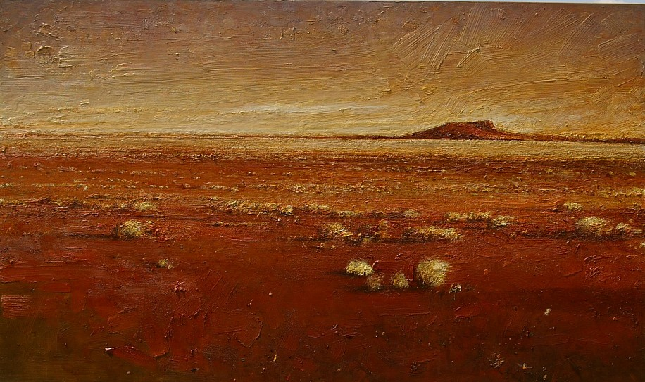 HAROLD VOIGT, RED EARTH LANDSCAPE (KALAHARI) OIL ON CANVAS