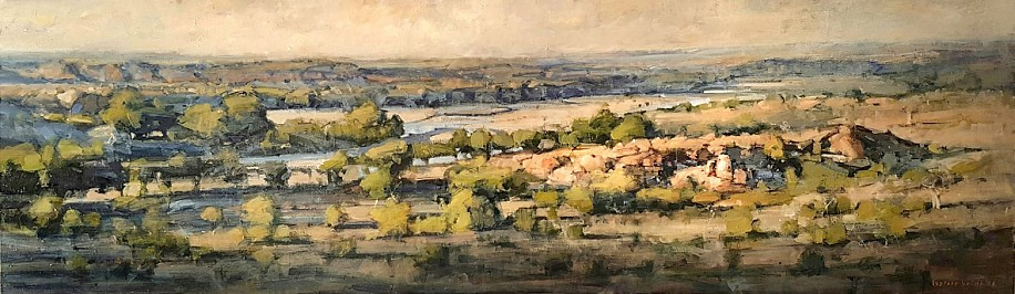 WALTER VOIGT, CONFLUENCE LIMPOPO AND SHASHE RIVER, MAPUNGUBWE OIL  ON CANVAS