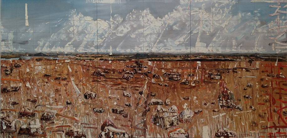 DEON VENTER, SPIOENKOP (Triptych) OIL ON LINEN