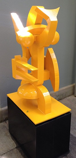 EDOARDO VILLA, ABSTRACT# 2 (YELLOW) 1992, STEEL