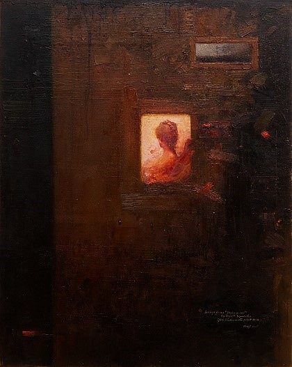 HAROLD VOIGT, AFTER ROBERT DEMACHY (STUDY IN RED) OIL  ON CANVAS