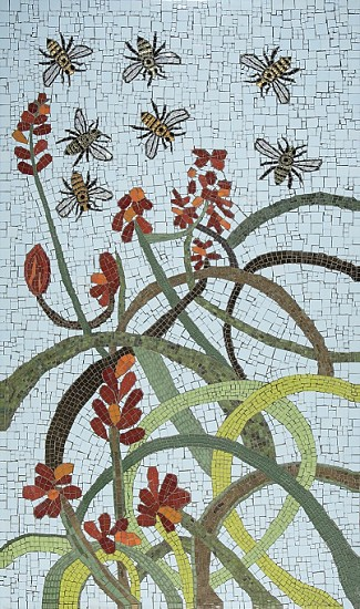 BRONWEN FINDLAY, BEES AND ALOES 2019, MOSAIC IN COLLABORATION WITH SAA