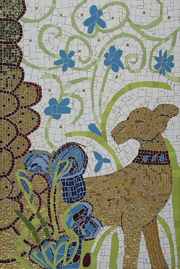 BRONWEN FINDLAY, HUNTING DOG AND IRIS 2020, MOSAIC IN COLLABORATION WITH SAA