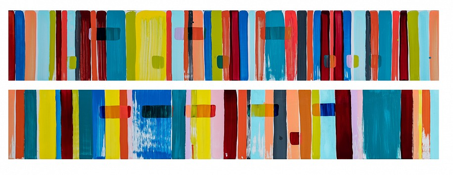 LIBERTY BATTSON, ARTS OK AGAIN (DIPTYCH) 2020, 2K AUTOMOTIVE PAINT ON CANVAS