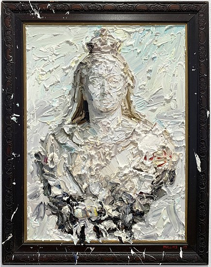 NIGEL MULLINS, BUST OF QUEEN VICTORIA 2017, OIL ON SUPERWOOD AND FRAME