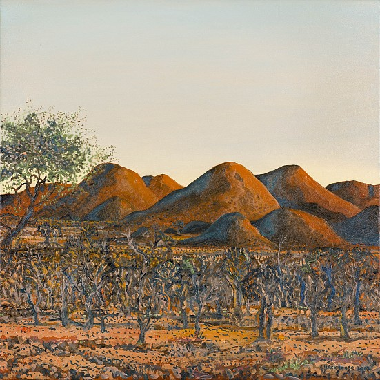 BRUCE BACKHOUSE, Red Korrannaberg,Tswalu 2019, OIL  ON CANVAS