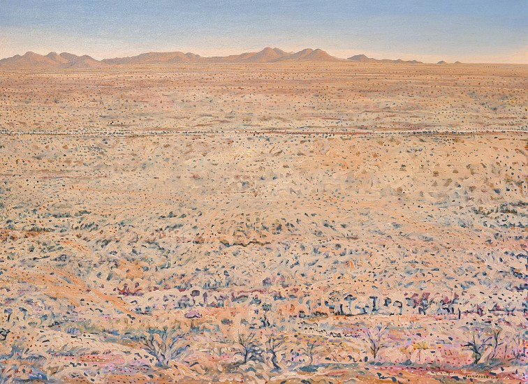BRUCE BACKHOUSE, Faraway Korrannaberg with District Road, Tswalu 2019, OIL  ON CANVAS