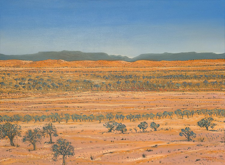 BRUCE BACKHOUSE, Distant Dunes,Tswalu 2019 2019, OIL  ON CANVAS