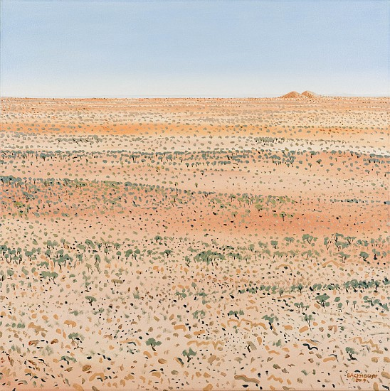 BRUCE BACKHOUSE, The Dunes with Distant Mountains,Tswalu 2019, OIL  ON CANVAS