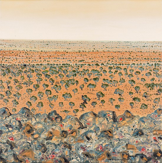 BRUCE BACKHOUSE, The Dunes from Tower Mountain,Tswalu 2019, OIL  ON CANVAS