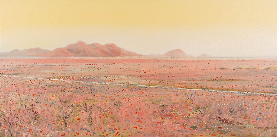 BRUCE BACKHOUSE, Soft Korannaberg, with District Road, Tswalu 2020, OIL  ON CANVAS