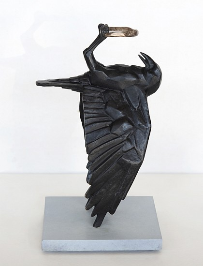 RINA STUTZER, STEALING THE HOLE IN THE SKY, Ed. 1/12 2020, BRONZE